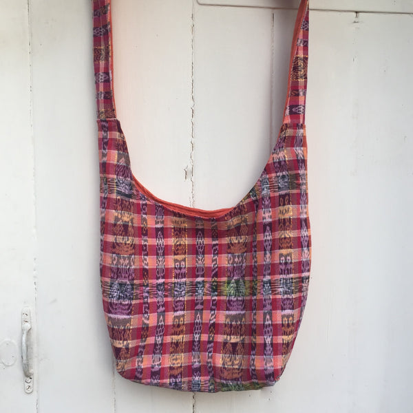Raspberry Orange Slouch Saddle Bag