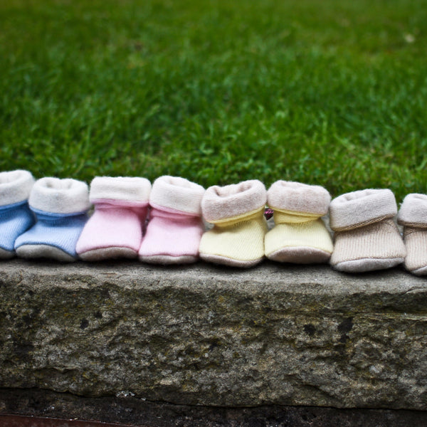 Cashmere Baby Booties in Your Choice by Turtle Doves