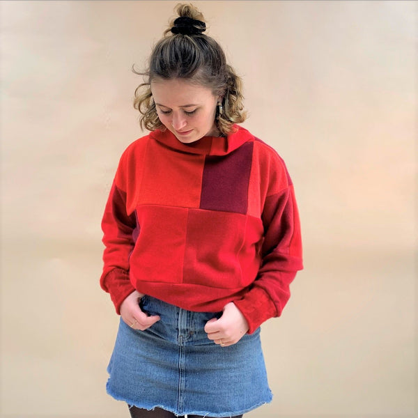 Cashmere Crop Jumper - Really Red