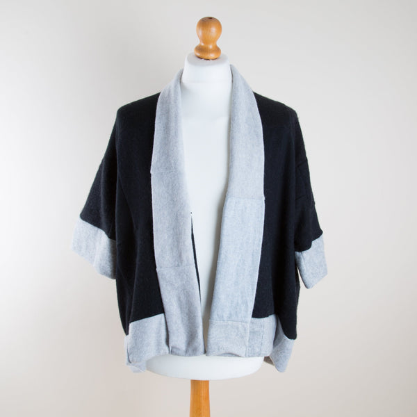 Black and Grey Cashmere Jacket by Turtle Doves