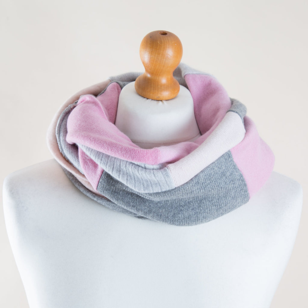 Cashmere Loop in Baby Pink & Grey by Turtle Doves