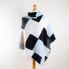 Monochrome Mix Turtleneck Cashmere Poncho