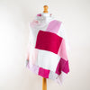 Raspberry Ripple Turtleneck Cashmere Poncho