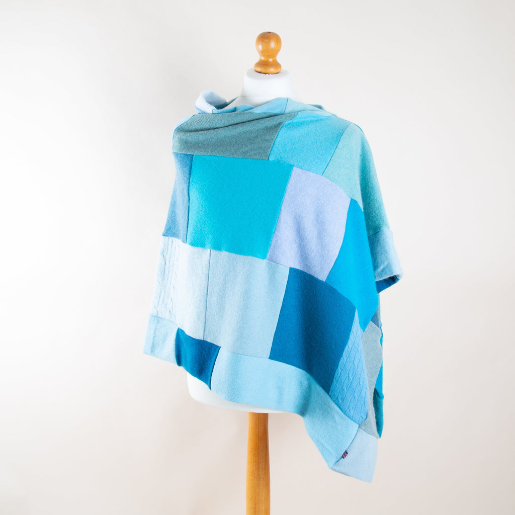 Turtle Doves Misty Mermaid Cashmere Poncho