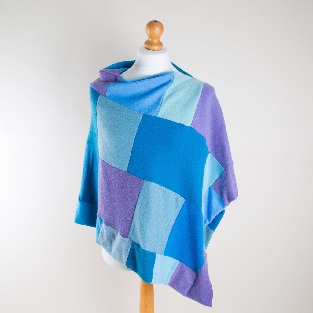 Peacock Cashmere Poncho by Turtle Doves