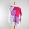 Pink & Pastel Stripes Cashmere Poncho by Turtle Doves