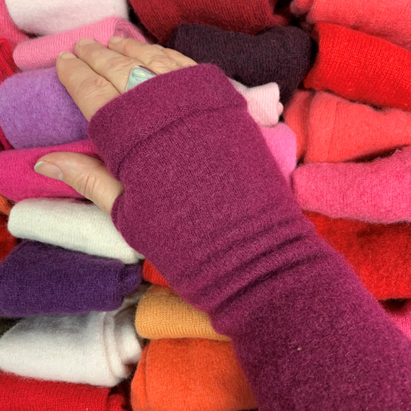 From The Slender Box Cashmere Lucky Dip Fingerless Gloves