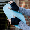 Blue, Grey & Black 3 Pack of Cashmere Fingerless Gloves by Turtle Doves