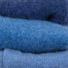 Denim Blue Cashmere Fingerless Gloves