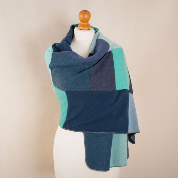 Cashmere Wrap in Greens & Blues by Turtle Doves