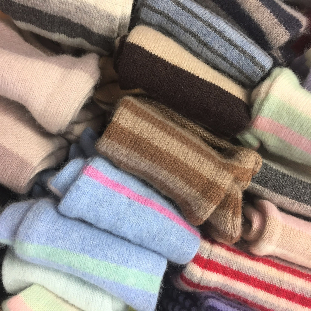 From The Stripe Box Cashmere Lucky Dip Fingerless Gloves