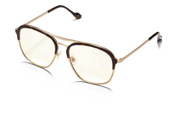 Sunday Somewhere Archie in Tokyo Tort Unisex Oversized Aviator Optical