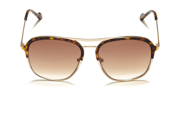 Sunday Somewhere Archie in Tort Unisex Oversized Aviator Sunglasses