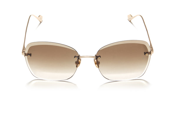 Sunday Somewhere Ava in Gold Women's Rimless Metal Sunglasses