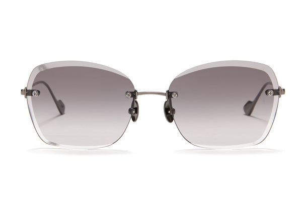 Sunday Somewhere Ava in Gun Metal Women's Rimless Metal Sunglasses