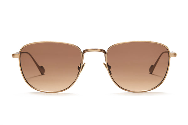Sunday Somewhere Cam in Antique Gold Unisex Metal Sunglasses