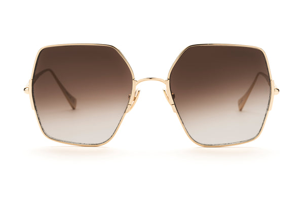Sunday Somewhere Eden in Gold Oversized Sunglasses