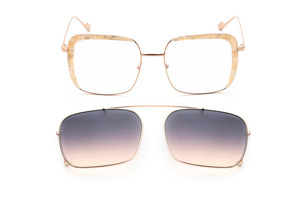 Fleur oversized optical frame in pink