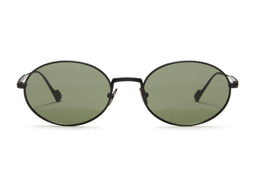 Sunday Somewhere Jax in Black Unisex Round Metal Sunglasses