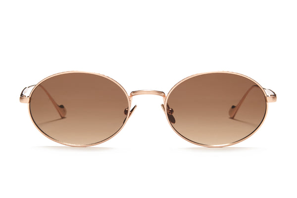 Sunday Somewhere Jax in Copper Unisex Round Metal Sunglasses