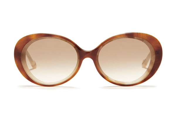 Sunday Somewhere Juniper in Tort Women's Round Acetate Sunglasses