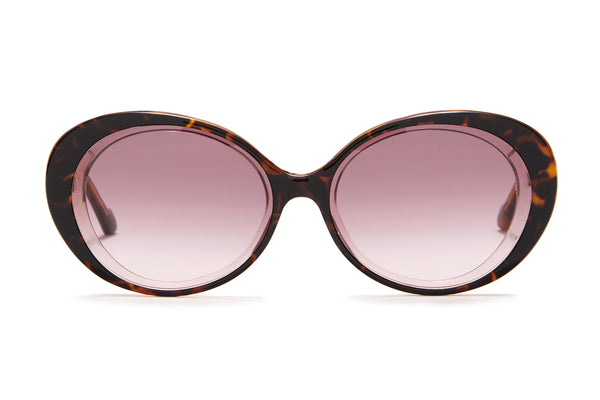 Sunday Somewhere Juniper in Purple Tort Women's Round Acetate Sunglasses