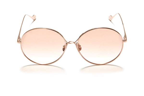 Sunday Somewhere Lola in Rose Gold Women's Round Metal Sunglasses