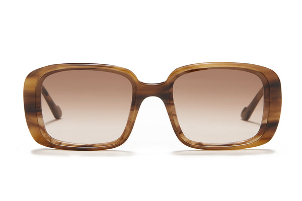 Sunday Somewhere Luna in Tort Women's Oversized Rectangle Sunglasses