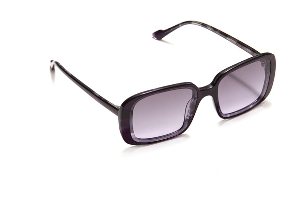 Sunday Somewhere Luna in Dark Purple Women's Oversized Rectangle Sunglasses