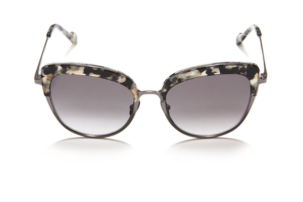 Sunday Somewhere Margot in Black Tort Women's Cat-Eye Combination Sunglasses