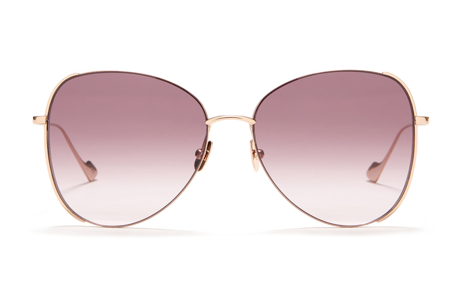 Sunday Somewhere Pip in Rose Gold Women's Oversized Metal Sunglasses