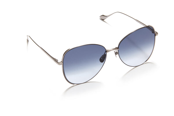 Sunday Somewhere Pip in Silver Women's Oversized Metal Sunglasses