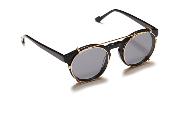 Sunday Somewhere Rio Black Unisex Round Acetate Optical Frames