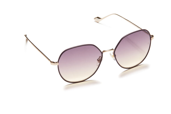 Sunday Somewhere Sedgwick Dark Purple Women's Metal Sunglasses