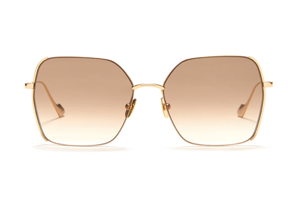Sunday Somewhere Suja in Gold Unisex Oversized Square Sunglasses