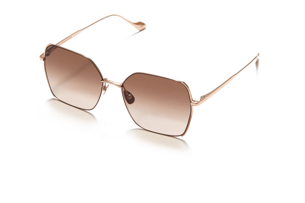 Sunday Somewhere Suja in Rose Gold Unisex Oversized Square Sunglasses