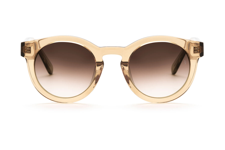 Soelae round sunglasses in champagne