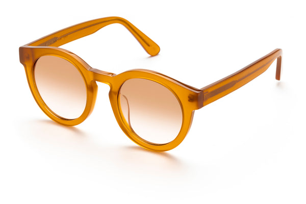 Soelae round sunglasses in honey