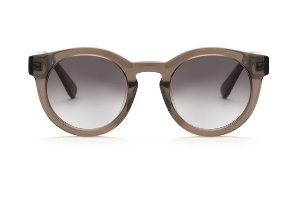 Soelae round sunglasses in transparent grey