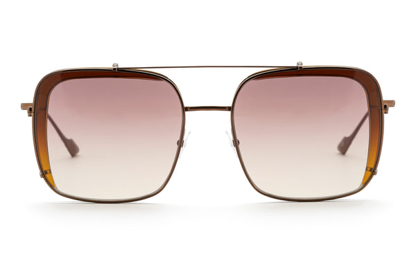 Fleur oversized optical frame in brown