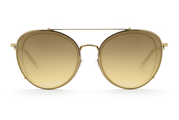 Ines round optical frame in gold