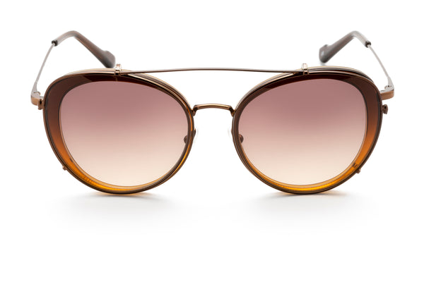Ines round optical frame in brown