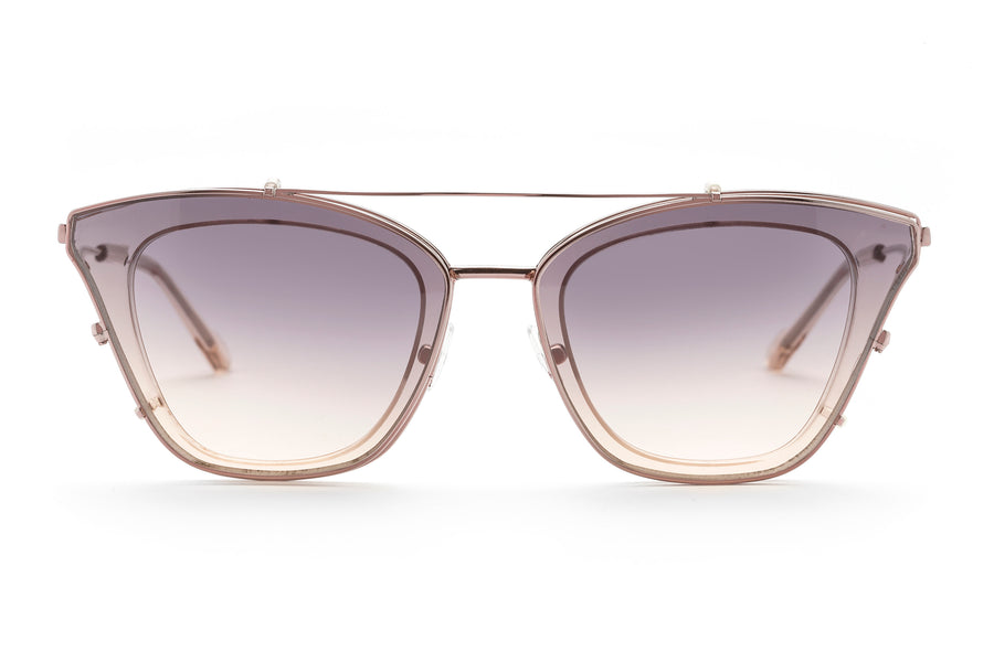 Cleopatra cat-eye optical frame in champagne
