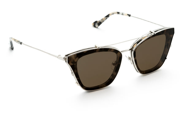Cleopatra cat-eye optical frame in grey tort