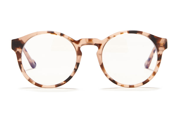 Sunday Somewhere Rio Pink Tort Unisex Round Acetate Optical Frames