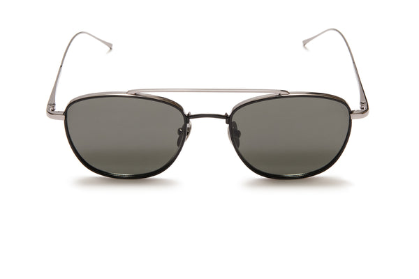 Sunday Somewhere Romeo Matte Black Unisex Aviator Sunglasses