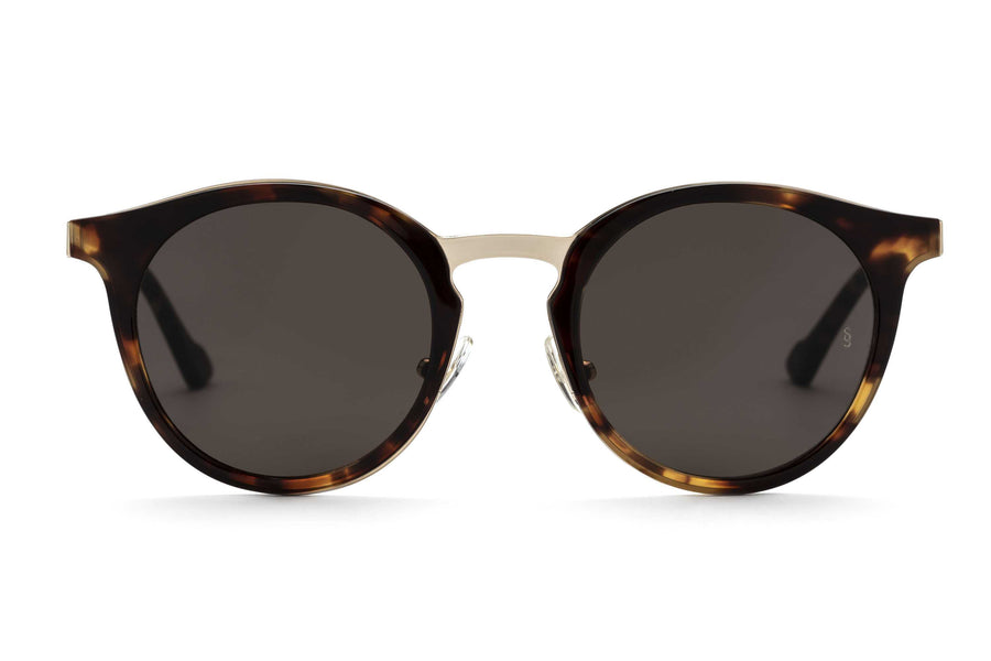 Shannon round sunglasses in tortoise