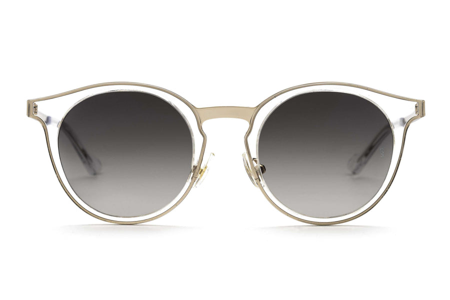 Shannon round sunglasses in crystal