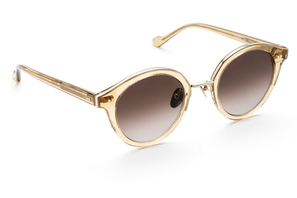 Barbara round sunglasses in champagne