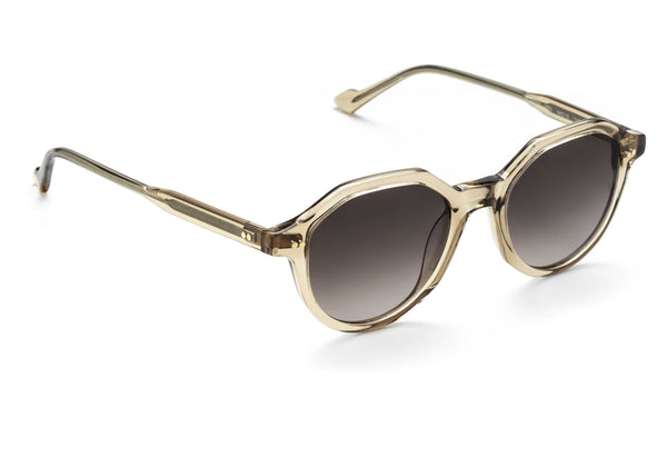 Yeeha geometric sunglasses in champagne